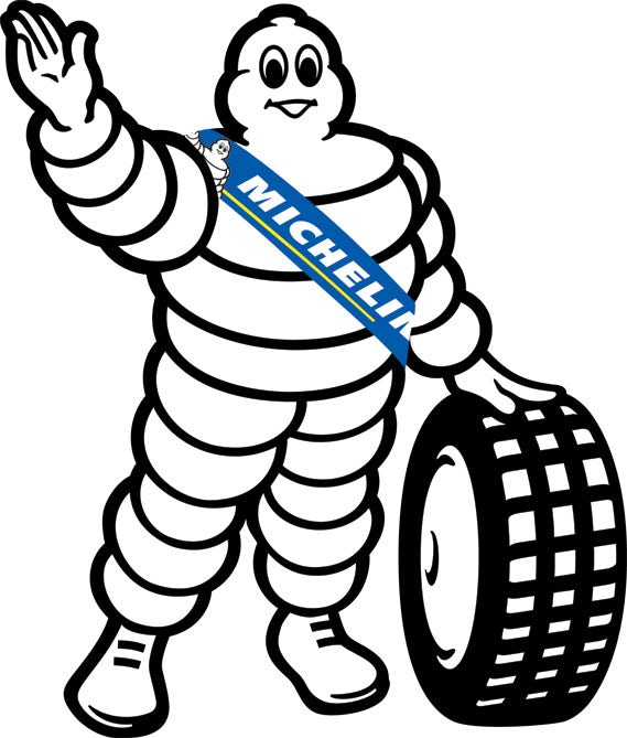 The current Michelin man logo