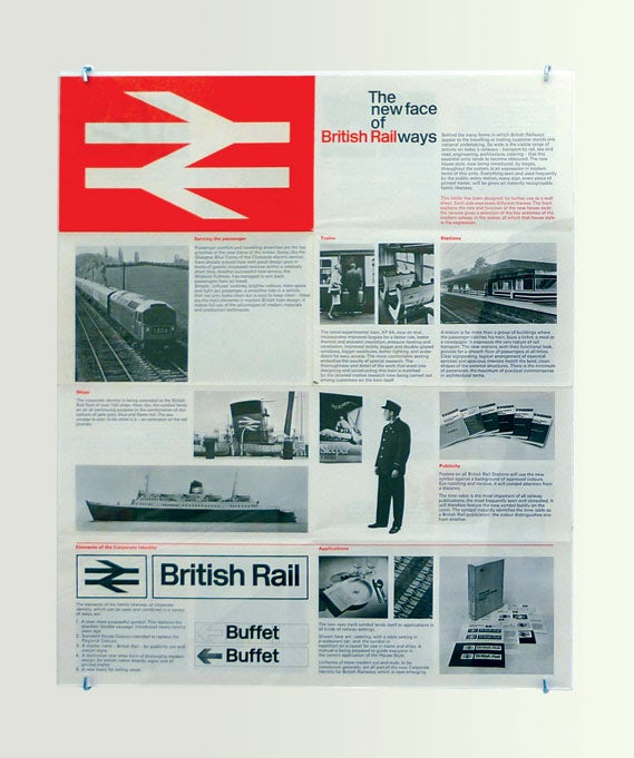 Guide to the new British Rail identity - shown in the Design Research Unit: 1942–72 Cubitt Gallery exhibition. Photograph by Alistair Hall, wemadethis.co.uk