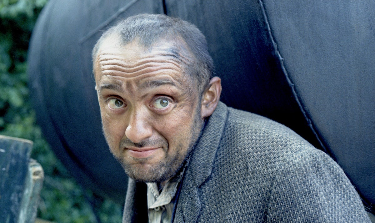 French singer and actor Charles Aznavour photographed on the set of the 1973 film The Blockhouse in which he co-starred with Sellers © Sellers Family