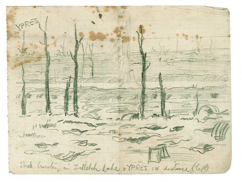 shell-bursting-in-zillebeke-lake-ypres-in-distance-left-november-1917-1