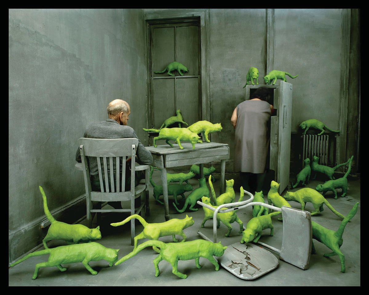 Sandy Skoglund, Radioactive Cats, 1980, Paci contemporary (Brescia, IT), as featured at this year's Paris Photo