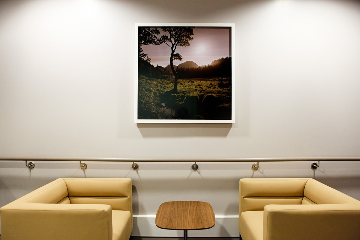 Seating area at The Royal London Hospital, Whitechapel