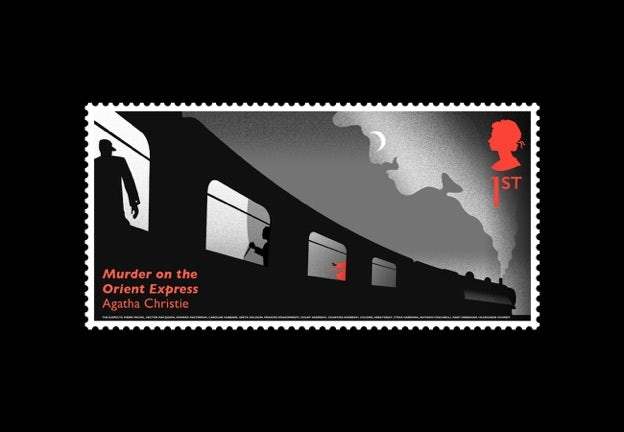 One of the six Agatha Christie stamps by Royal Mail