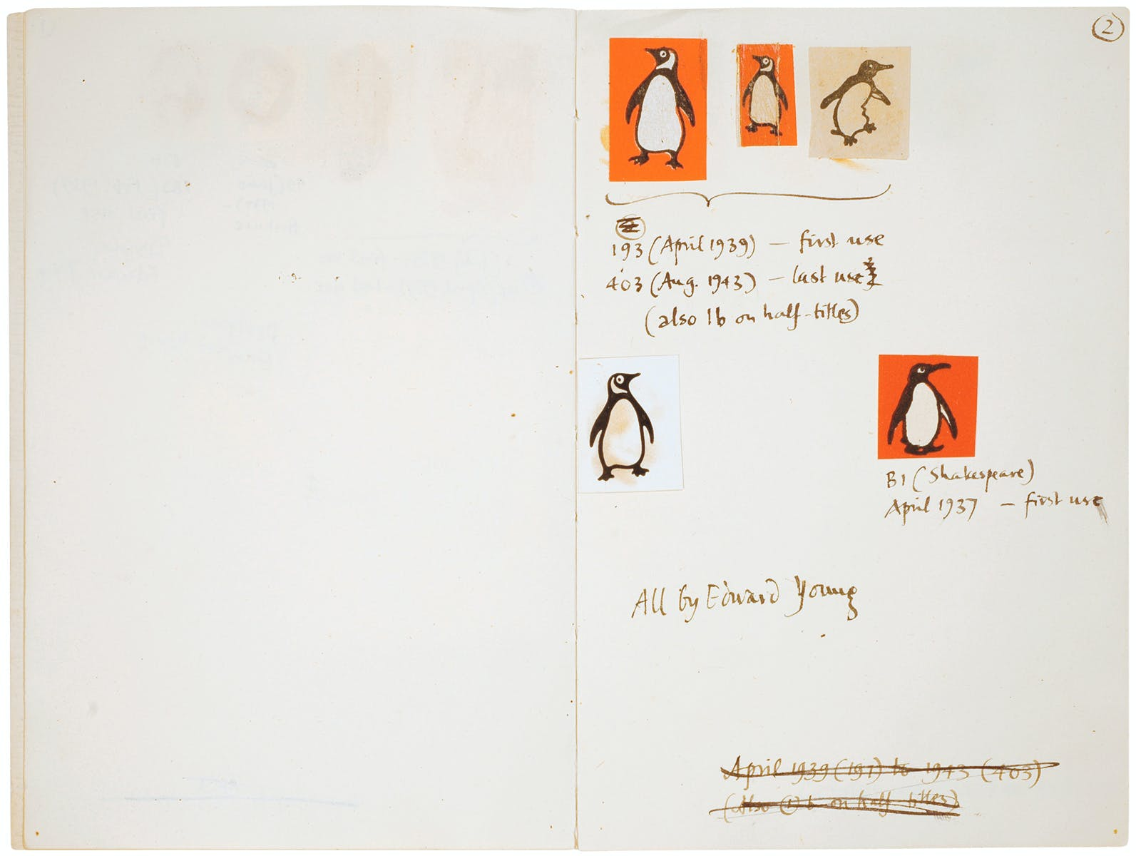 initial sketches of the penguin logo