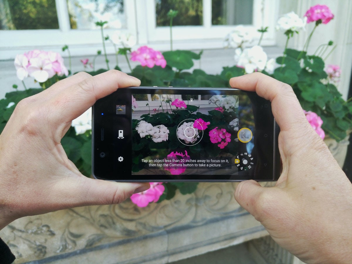 The Ektra camera in bokeh mode, which captures two images with different focus points, simulating the blur of a wide aperture lens