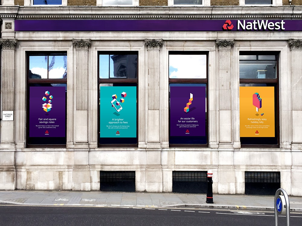 "Futurebrand ECD Dan Witchell says the aim was to create graphics which would stand out on ""the visually 'noisy' high street"""