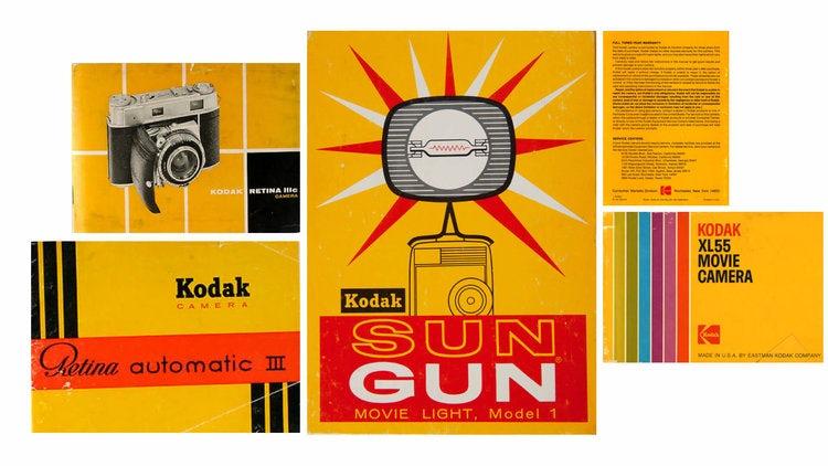 Kodak's logos through the ages, and vintage marketing, via Work-Order (work-order.co)