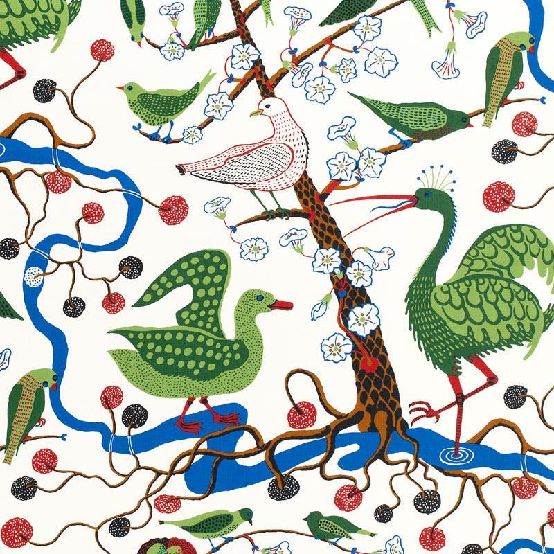 Josef Frank, Gröna Fåglar ©Svenskt Tenn