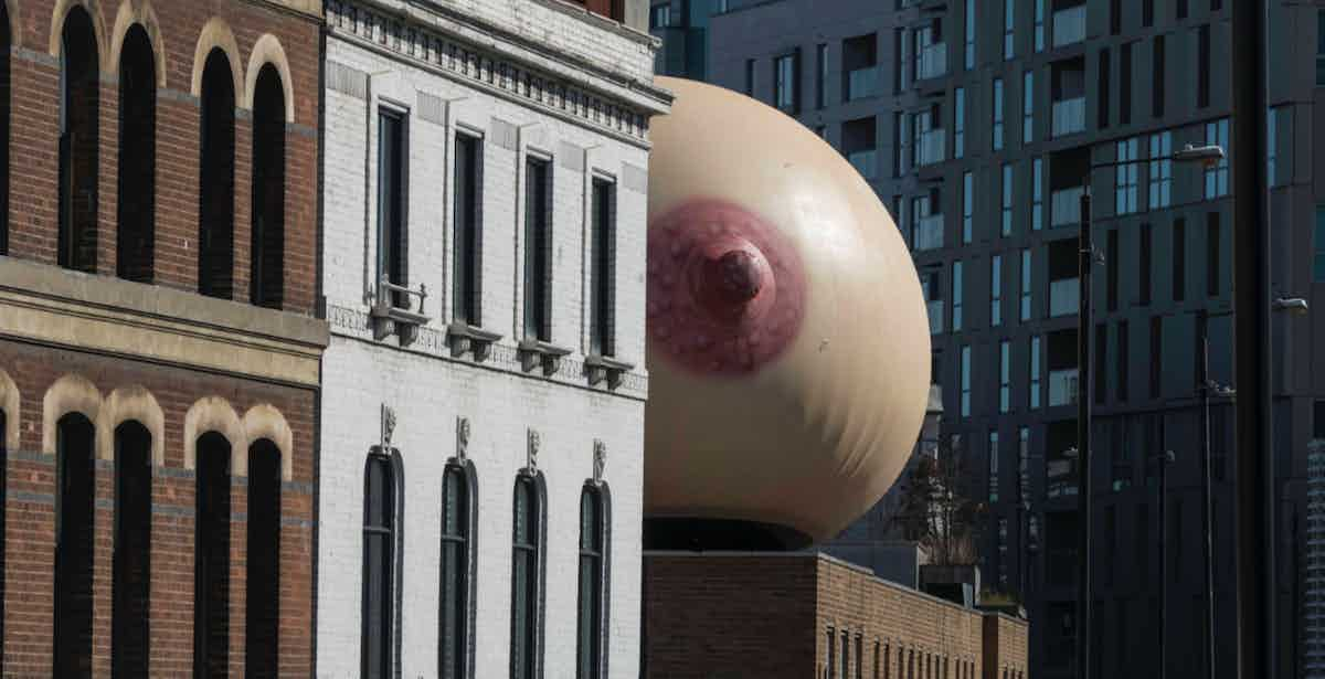 Mother breast sculpture #freethefeed