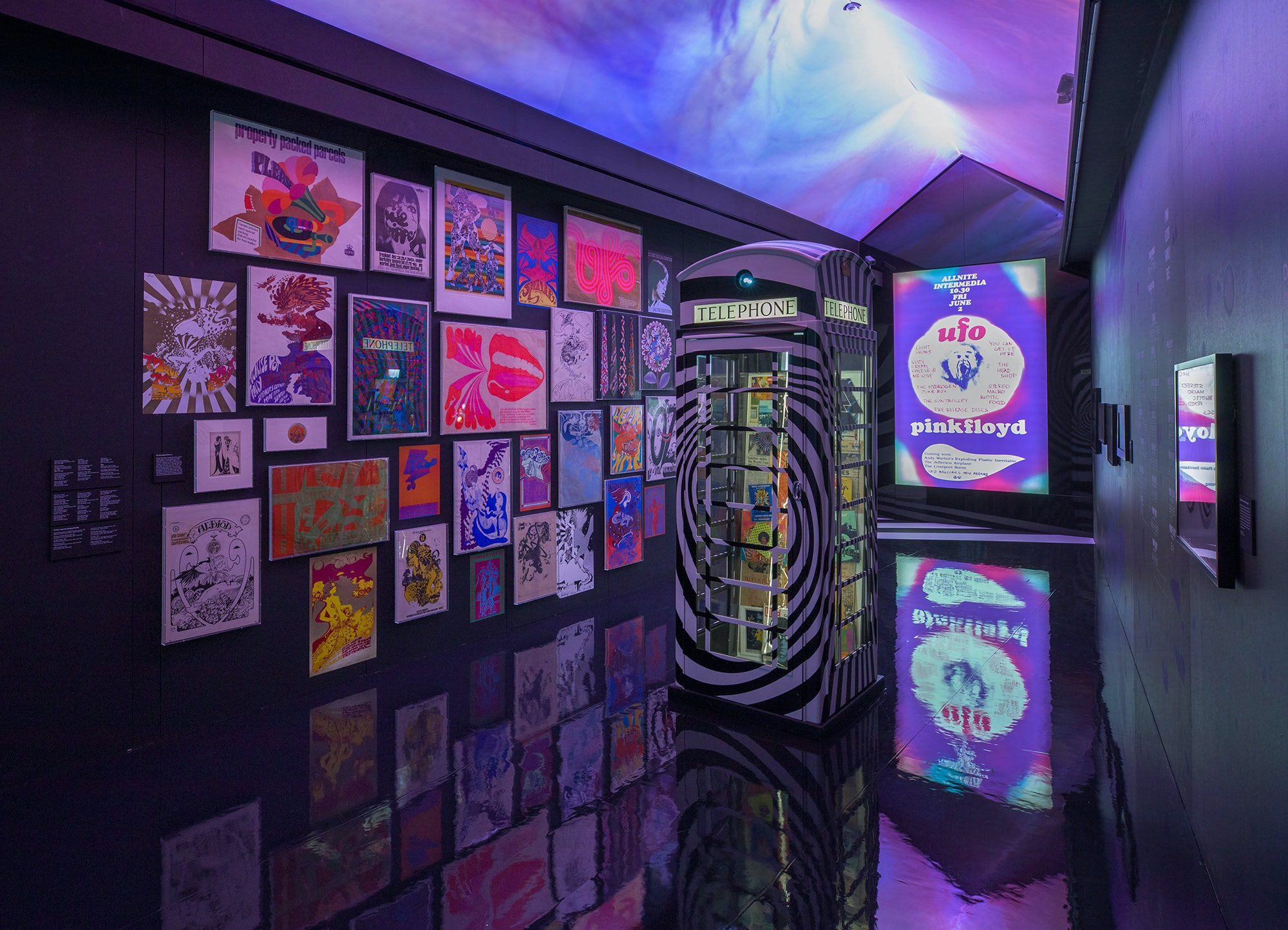 The Pink Floyd Exhibition: Their Mortal Remains presented by London's V&A and Michael Cohl's Iconic Entertainment. Sound by Sennheiser. Image courtesy of the V&A