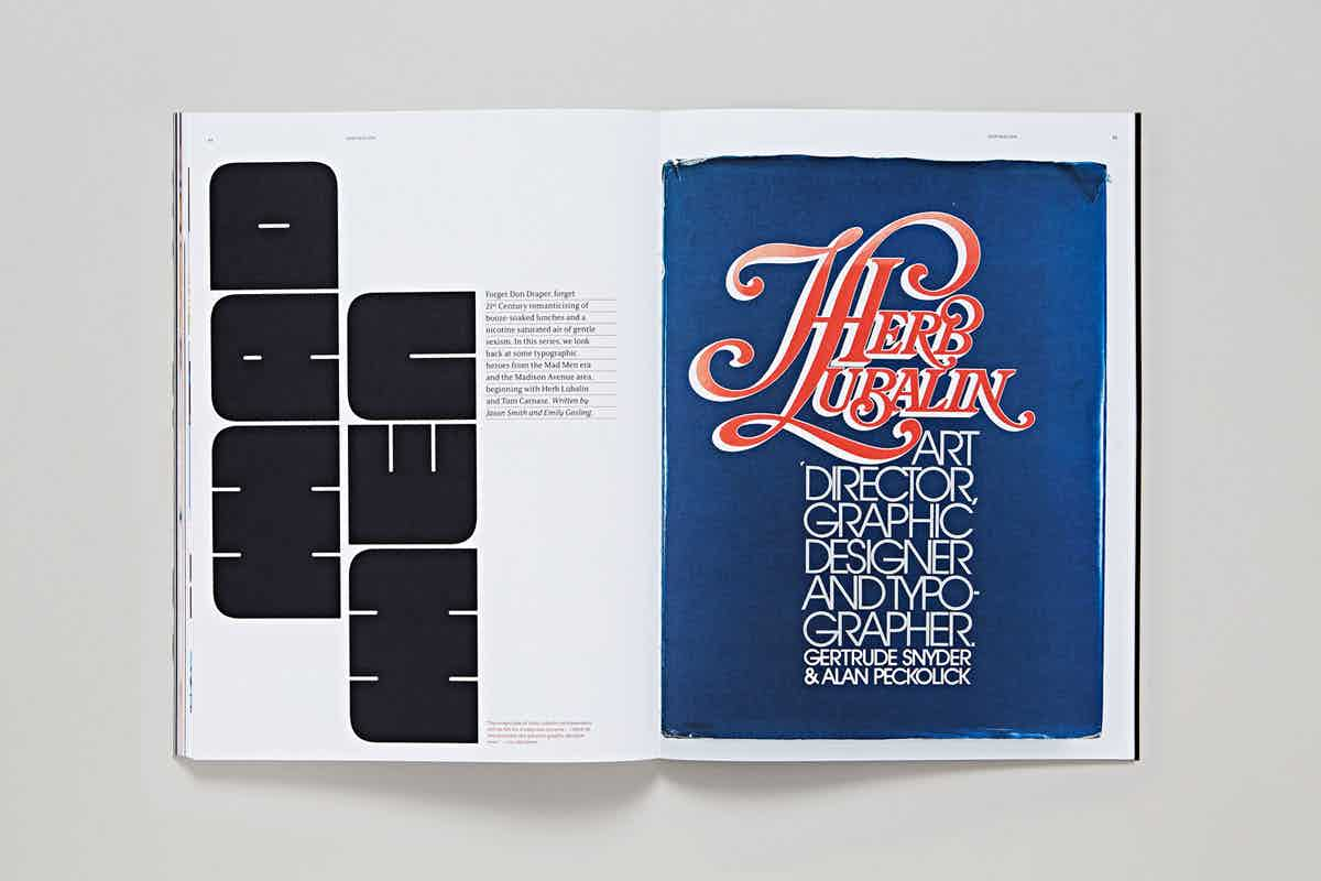 Issue one of TypeNotes, a typogrpahy magazine published by London type foundry Fontsmith