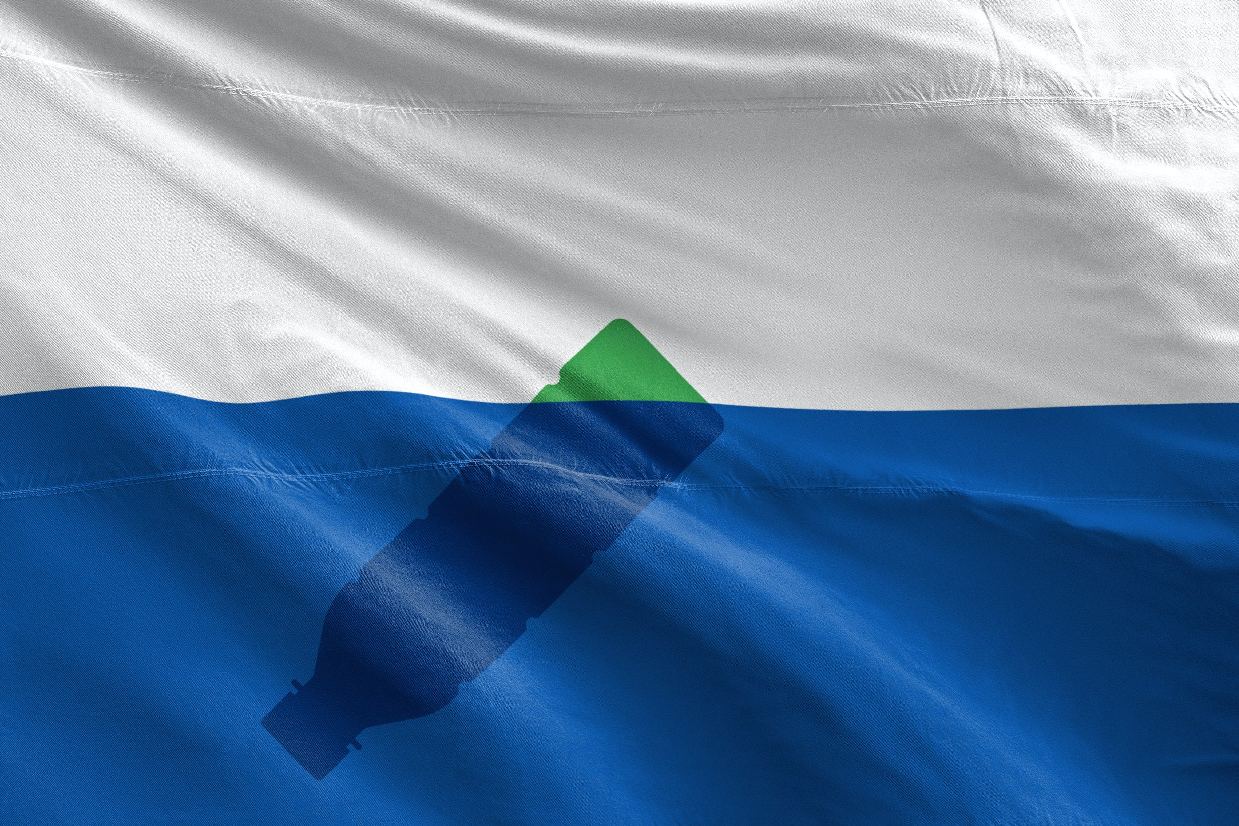 The Trash Isles flag, designed by Mario Kerkstra