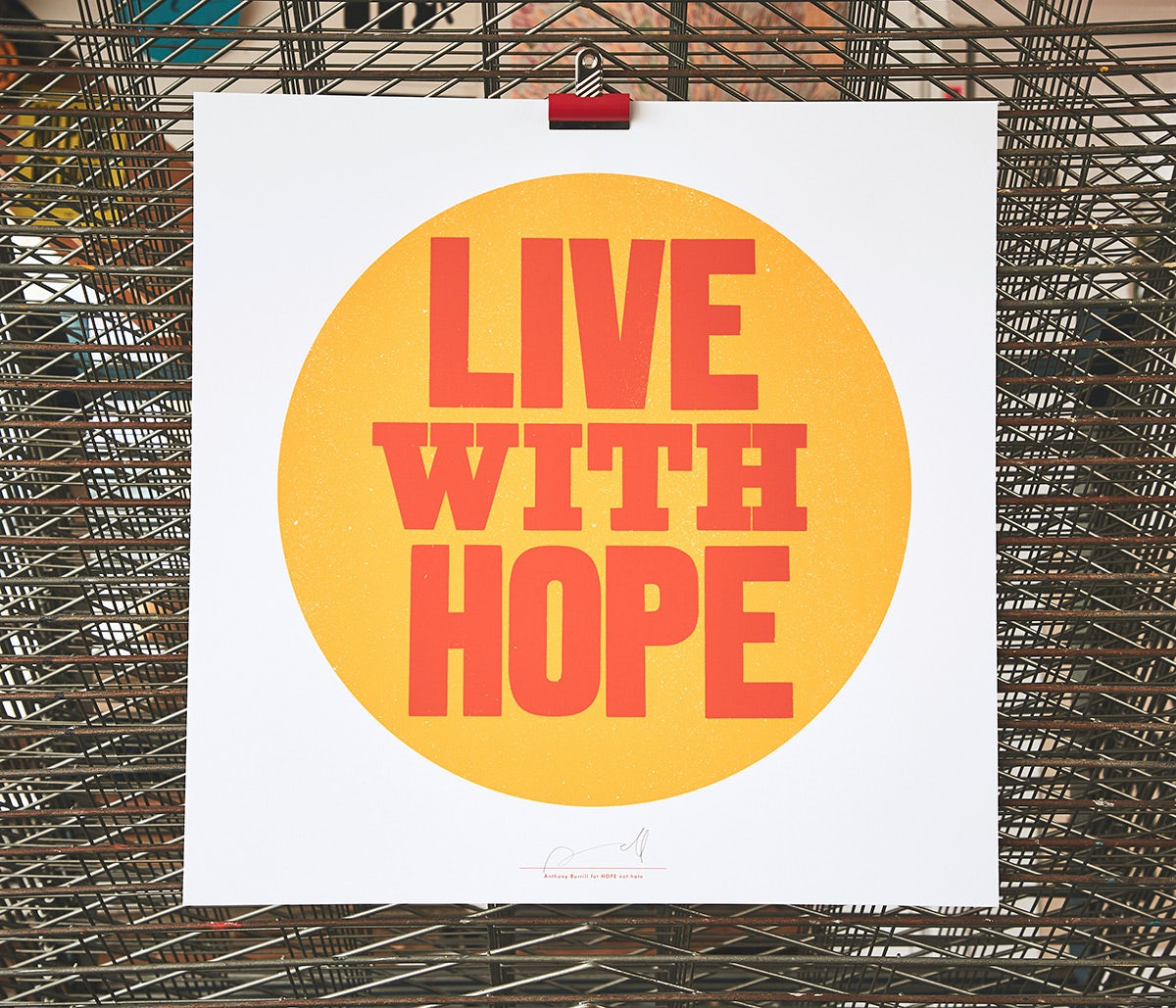 a poster for hope not hate