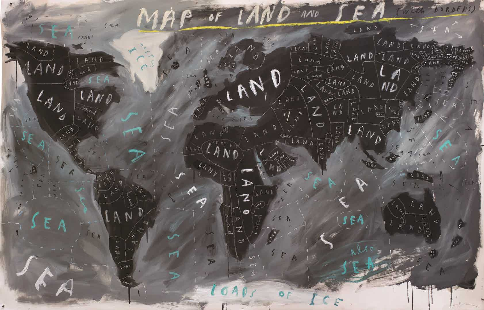 Map of Land and Sea with Borders by Oliver Jeffers