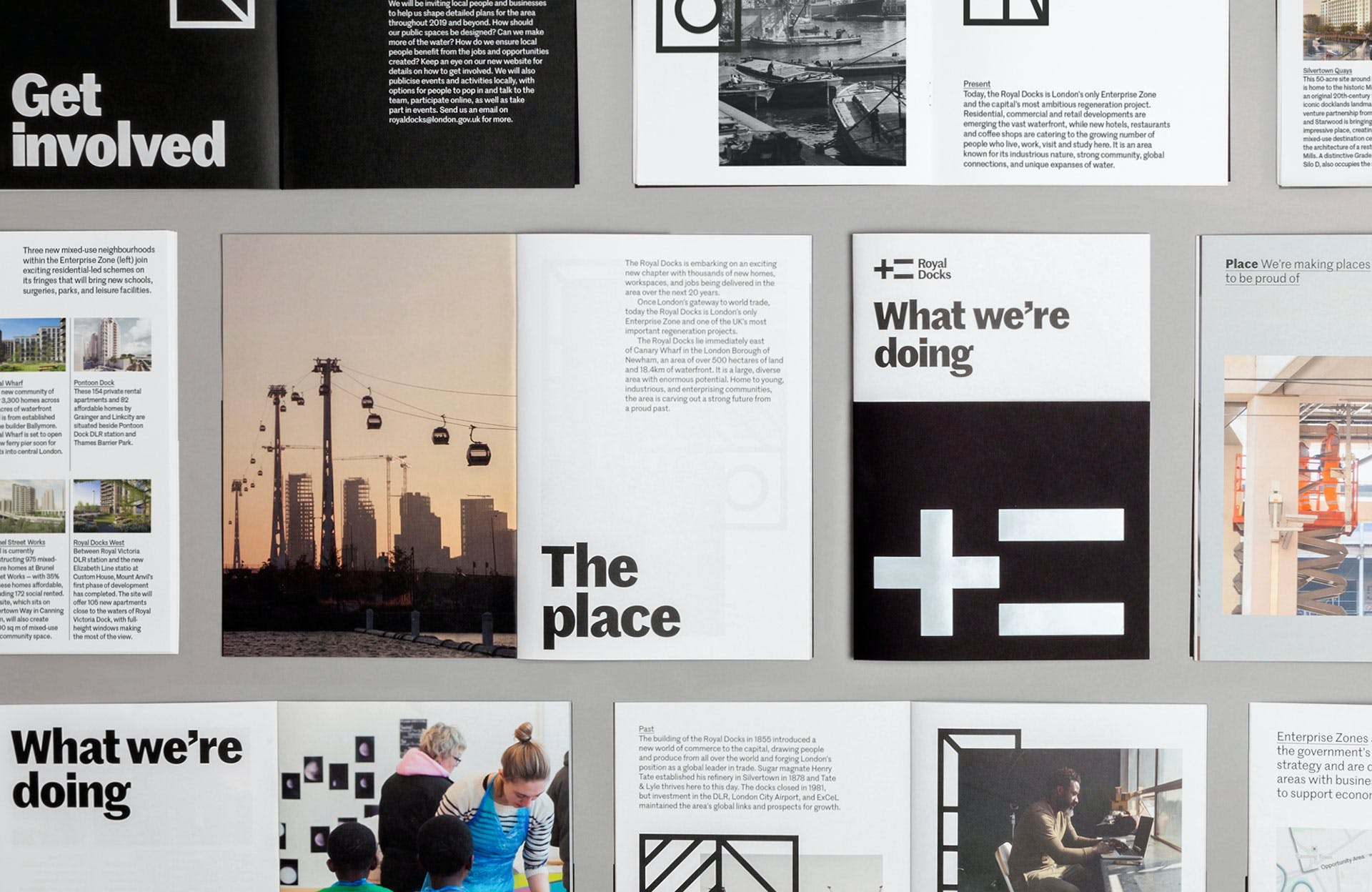 Dn Co S Straight Talking Identity For The Royal Docks Creative Review