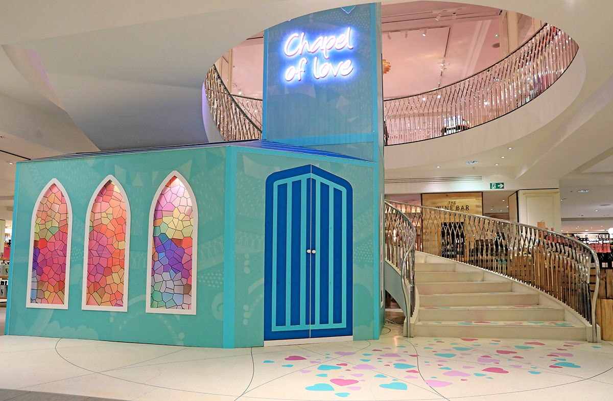 The new Chapel of Love at Fortnum & Mason which is hosting wedding ceremonies