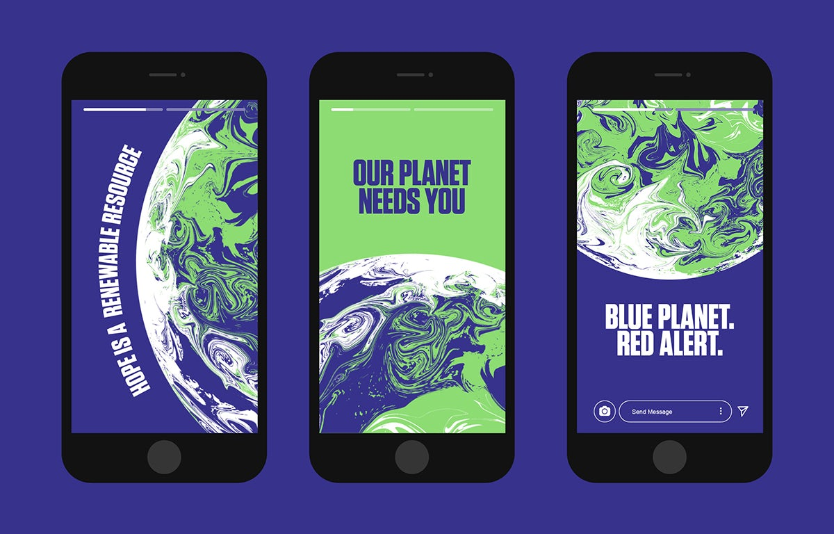 COP26 identity by Johnson Banks