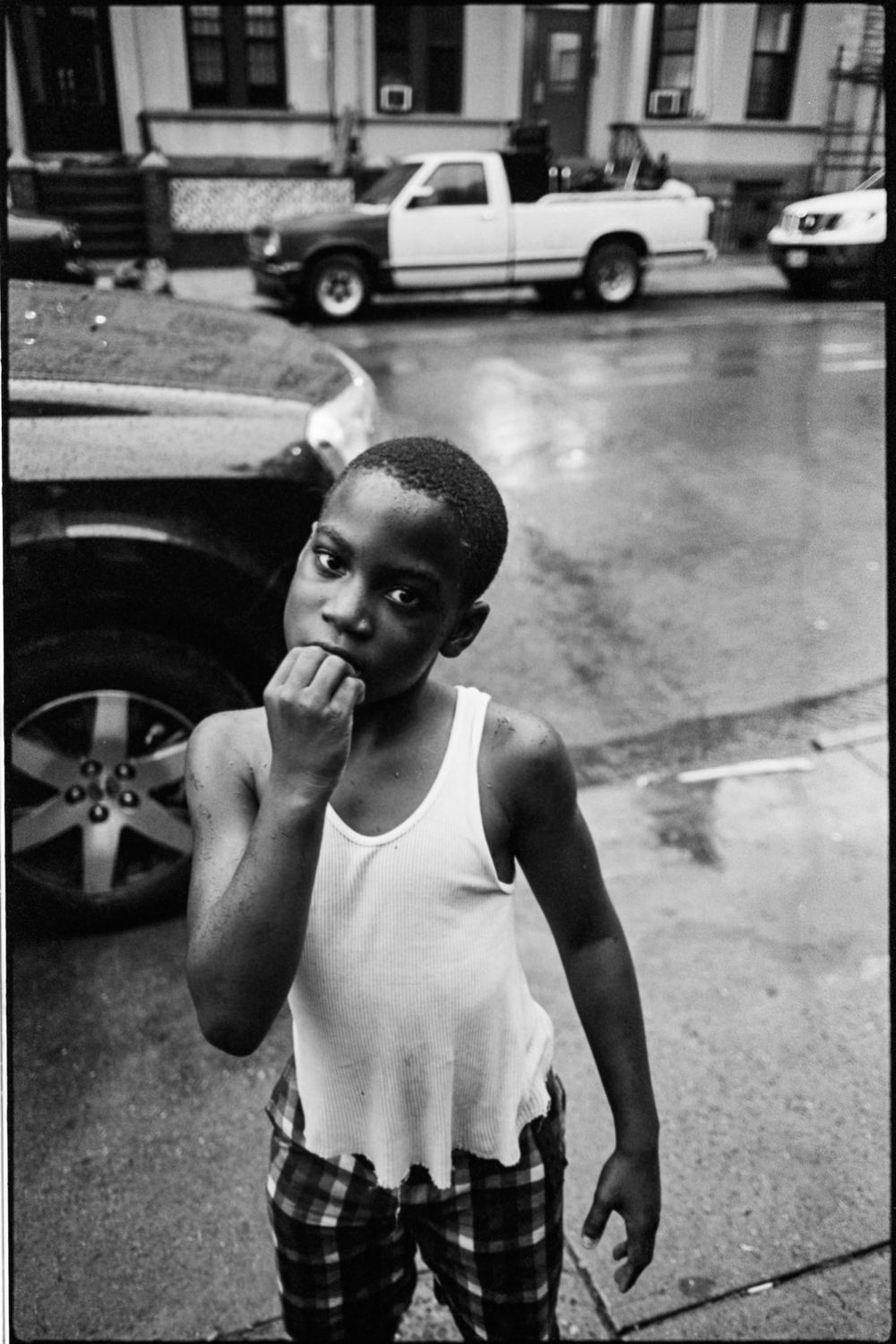 An image of a young boy by photographer Andre D Wagner