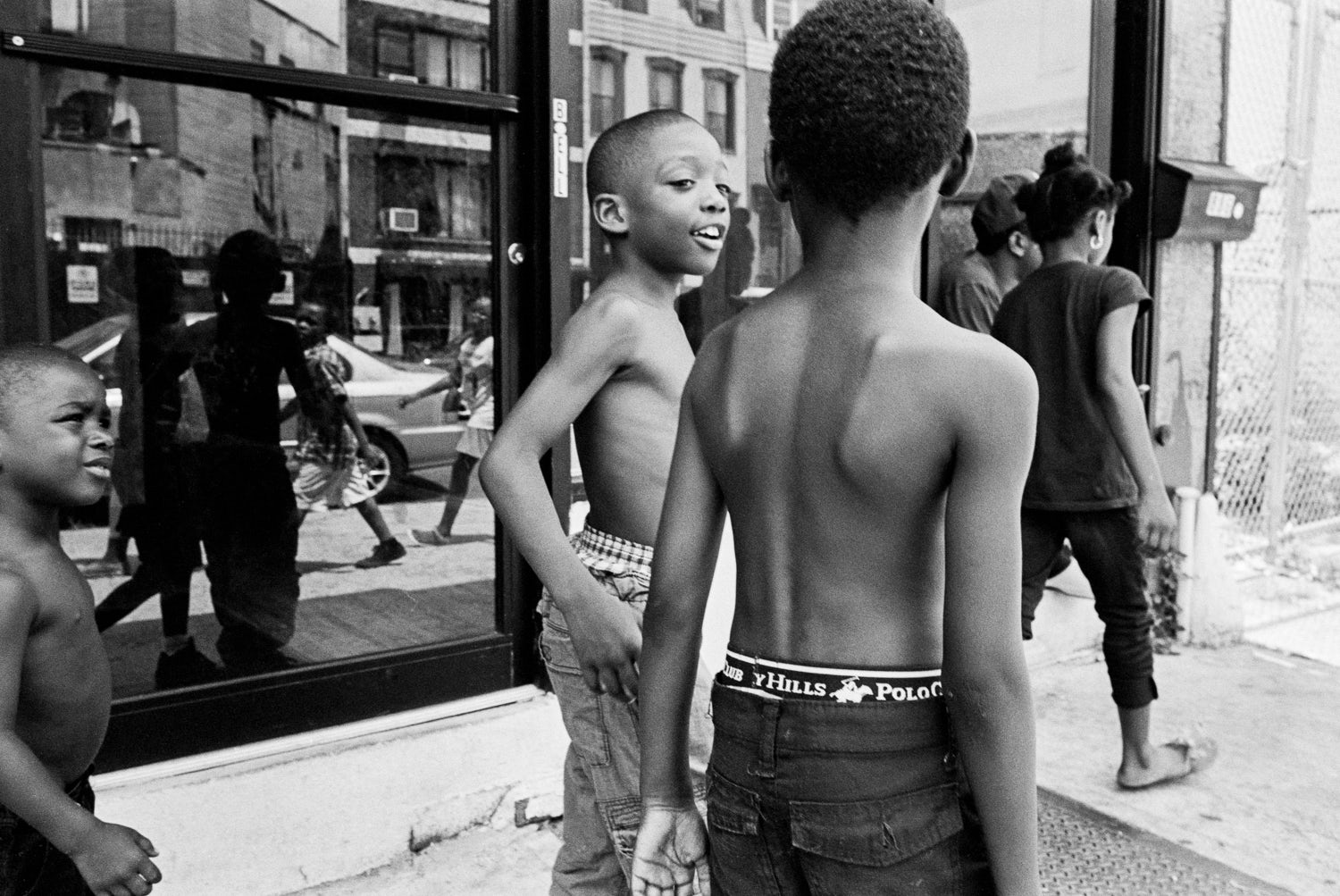 A photograph of two children by Andre D Wagner