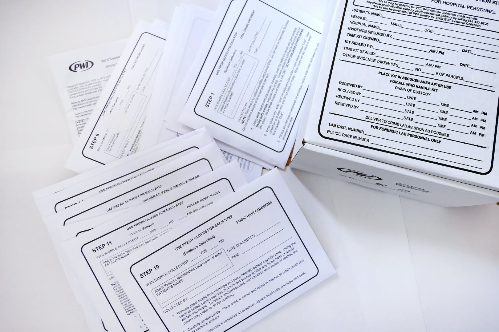 Example of an existing rape kit