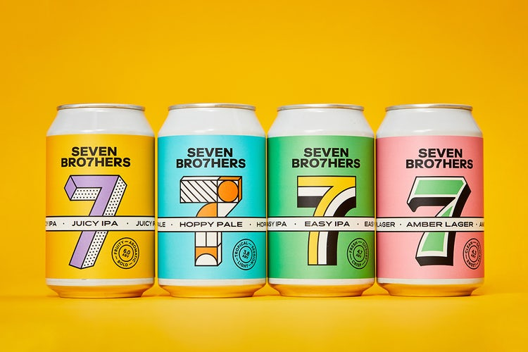 New cans designed for Seven Brothers brewery
