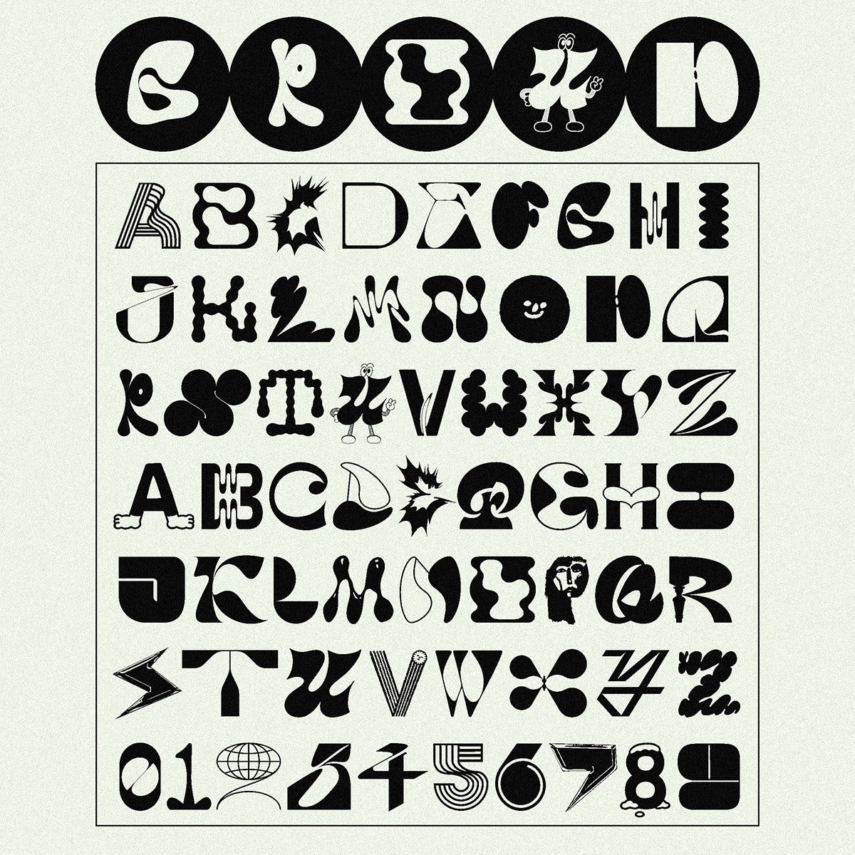 Group font
