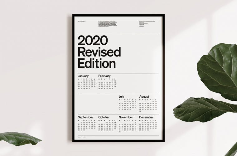 2020 calendar Christopher Doyle