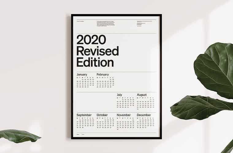 2020 calendar Christopher Doyle