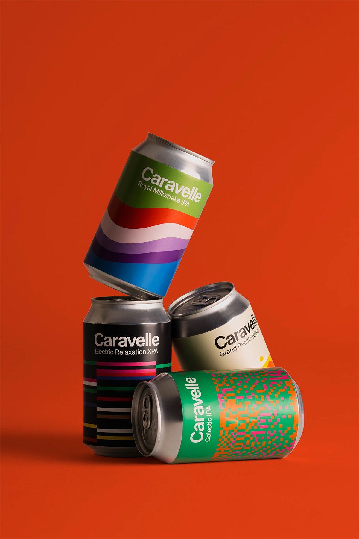 Branding for craft beer brand Caravelle