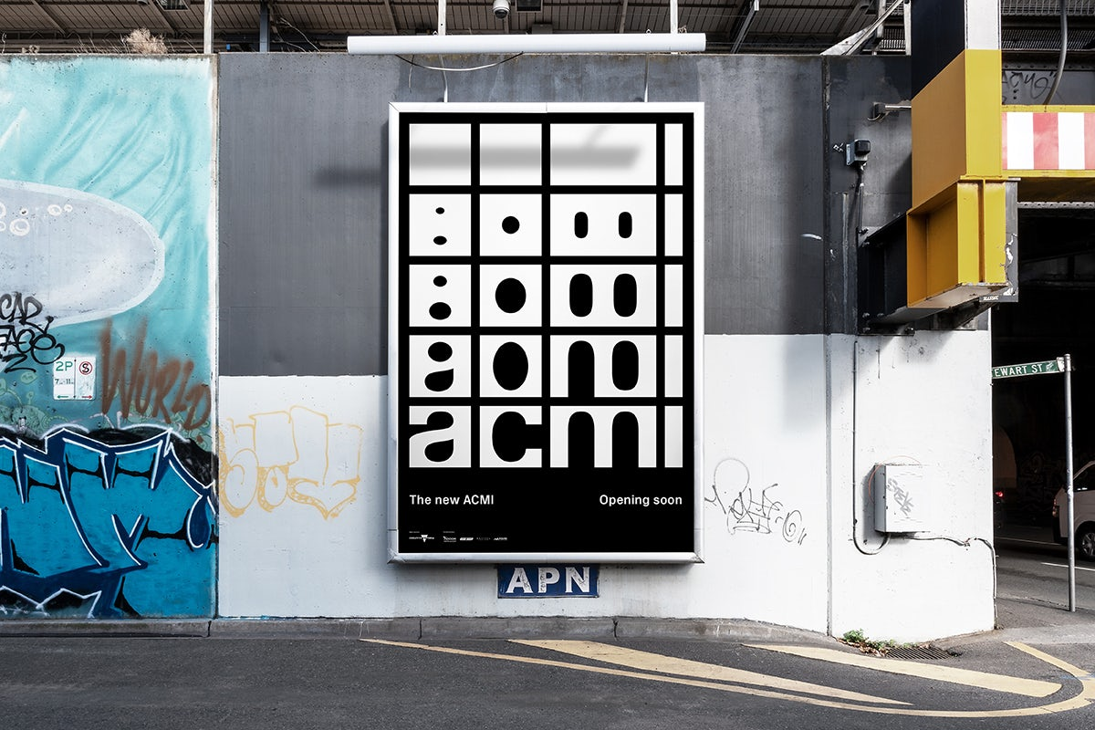 ACMI outdoor branding by North