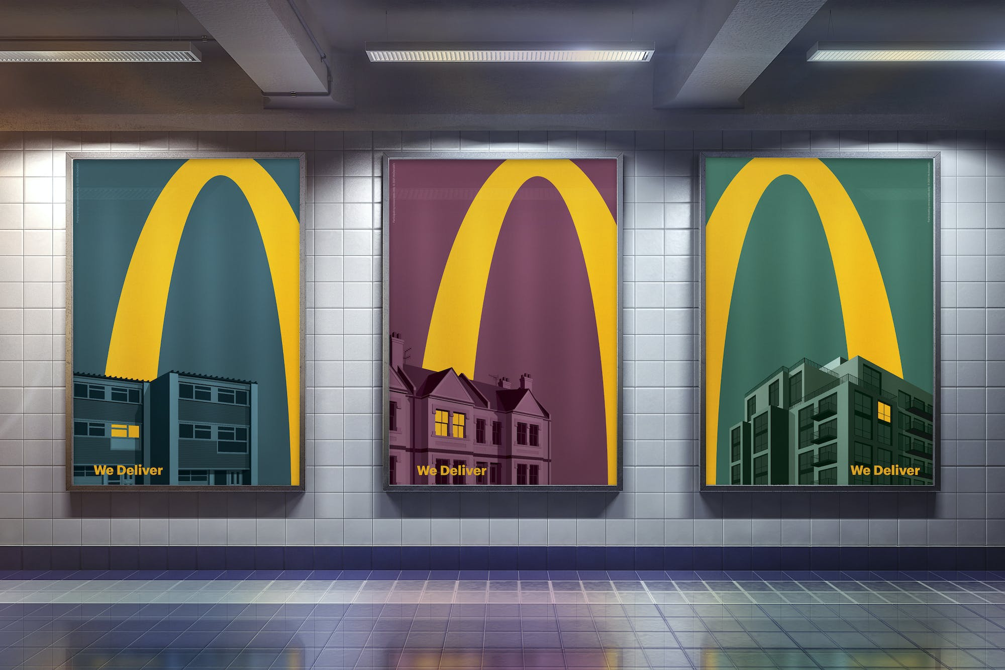 Stylish new McDonald's ads promote home delivery service