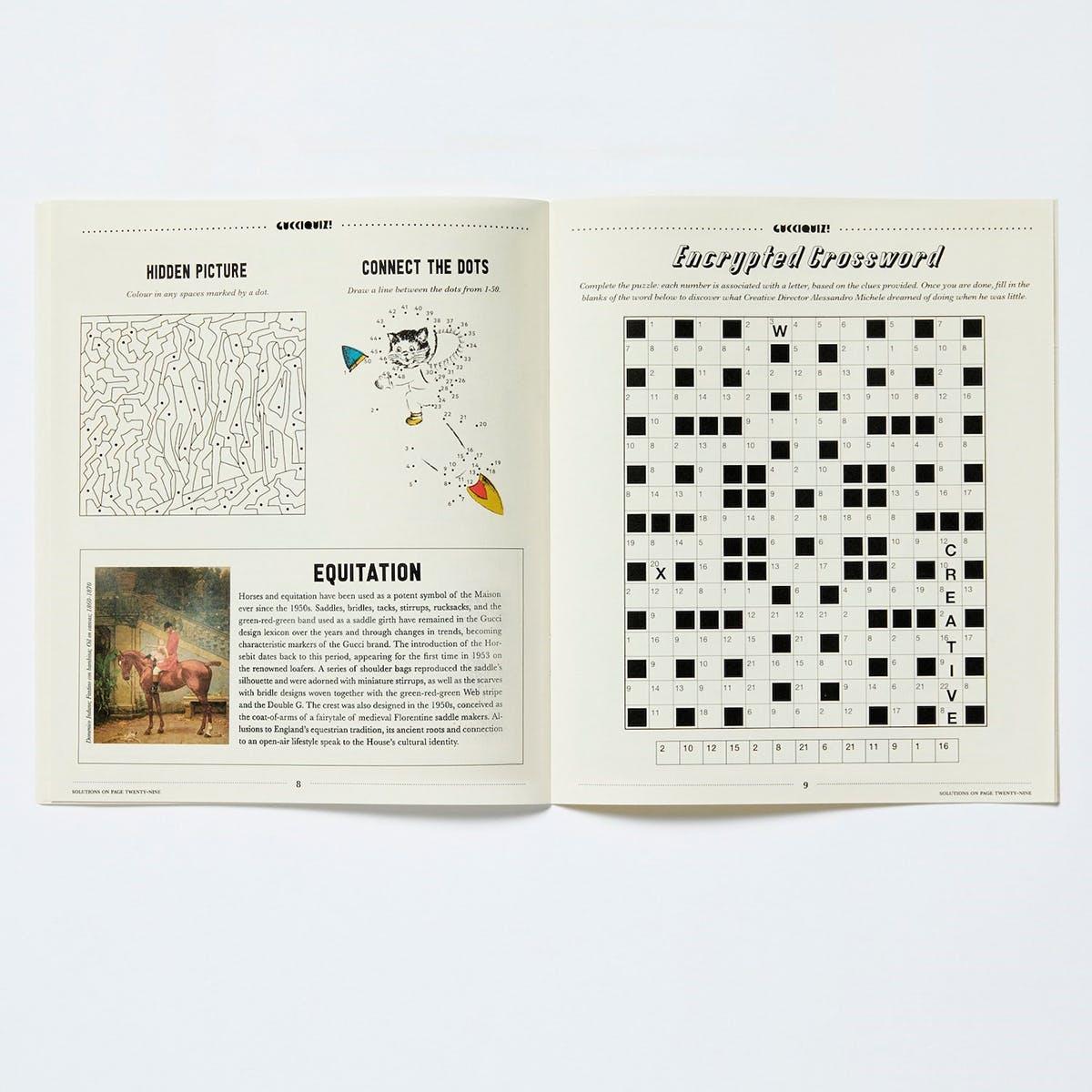 Puzzles in Gucciquiz