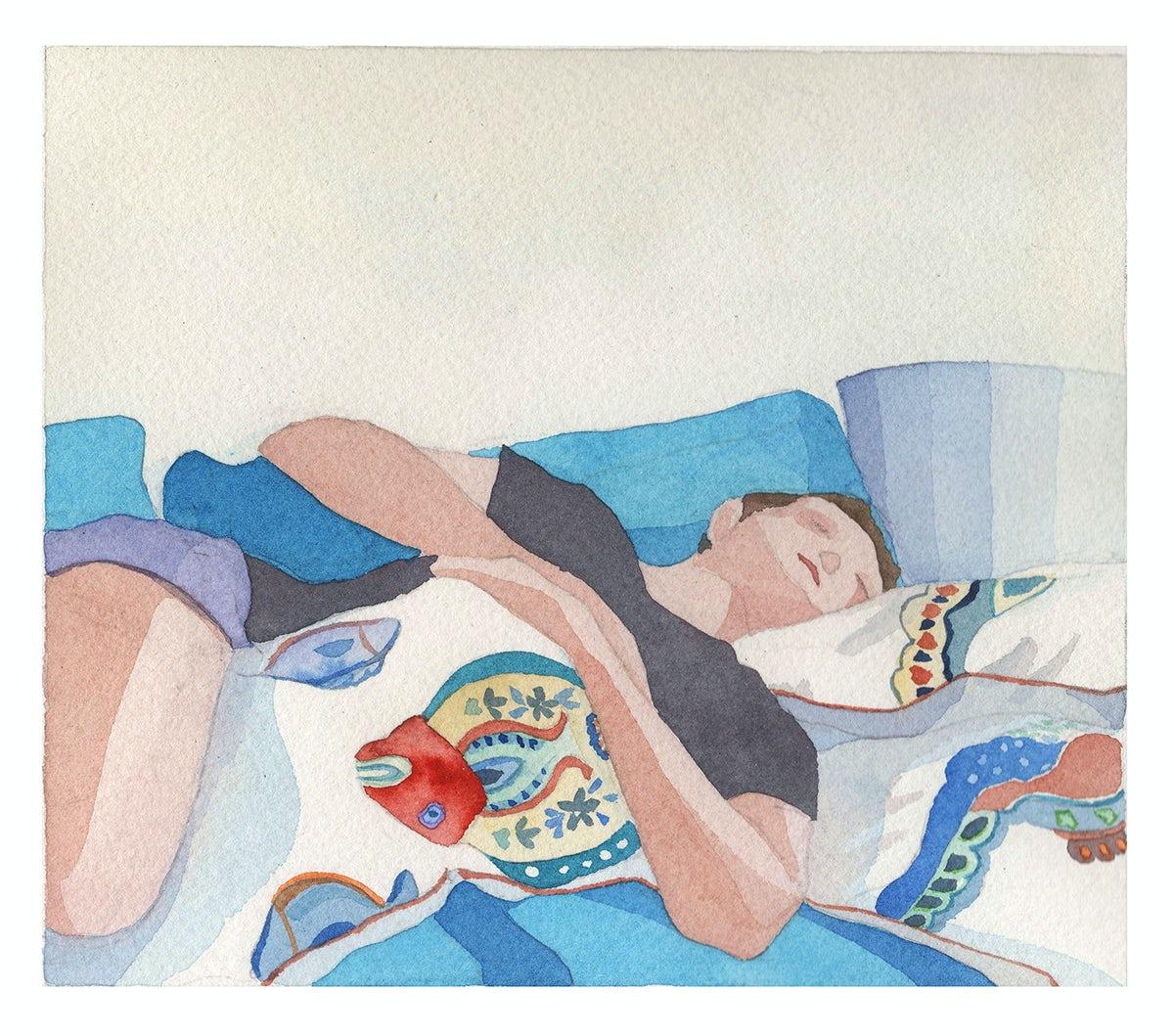 Illustrator Jean Aubertin uses watercolours to capture the everyday